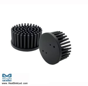 Aluminum Passive Cold Forged LED Pin Fin Heat Sink Dia 58mm