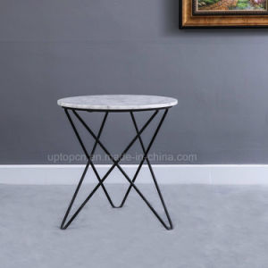 Hotel Used Marble Coffee Side Table With Metal Wire Leg (SP GT210)