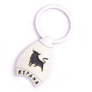 Spain Gift Llavero Keyring Metal Souvenir with Engrave Cattle (F1103)