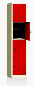Powder Coated Red Metal Clothes Locker (JT-N03) pictures & photos