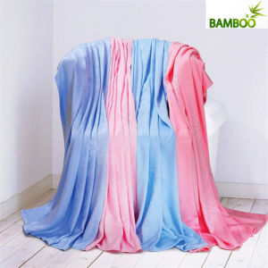 100% Antibacterial Modern Soft Bamboo Bedding Blanket pictures & photos