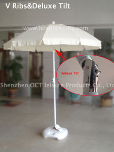 Strong V Type Outdoor Umbrella (OCT-BUSTU-WHITE) pictures & photos