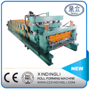 Automatic Hydraulic Color Steel Double Deck Roofing Sheet Roll Forming Machine pictures & photos