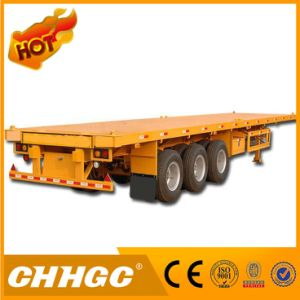 2*20ft Container Flatbed Semi Trailer with 2 Axles
