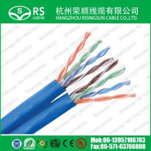 Blue CAT6 U/UTP Dual/Twin Cable 23AWG Network LAN Cable