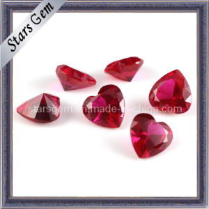 Charming Heart Shape 5# Ruby for Jewelry pictures & photos