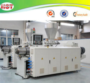 Conical Twin/Double Screw Extruder Machine for PVC/PP/PE Pipes/Profiles/Granules/Pellets/Sheets pictures & photos