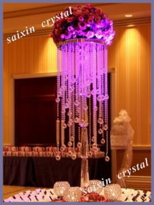 Chic Wedding Centerpieces Crystal Flower Stand for Wedding