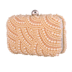 Newest Sequined Beaded Pearl Ladies Evening Bag for Party
