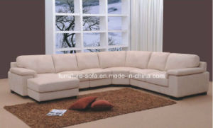 China L Shape Home Furniture Wood Frame Big Corner Sofa (S104 ...
