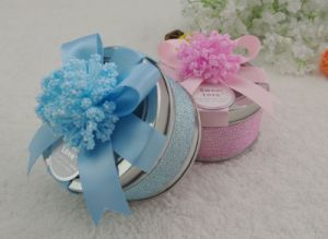 Wedding Round Metal Tin Box (FV-050817) pictures & photos