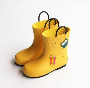 6fc46e943612b Children Kids Anti Slip Soft Rubber Safety Rain Boots
