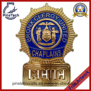 Chaplains Badge, Die Cast Curved Badge