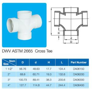 Plastic Cross ASTM D2665 Standard for Dwv Drain Water with NSF Certificate pictures & photos