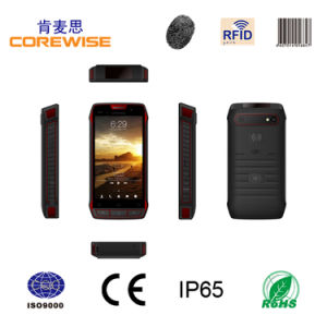 5 Inch Android 4.3 Quad Core 3G Rugged IP65 Nfc Smart Mobile Phone with 2D Barcode Scanner, UHF RFID Reader, WiFi, Bluetooth, GPS (CFON640)