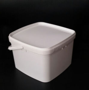 China Ice Cream Container Bucket Retangular Plastic Bucket with