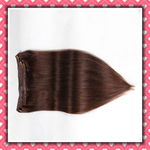 Cheap Price Brazilian Clip-on Hair Extensions Silky 18inches pictures & photos