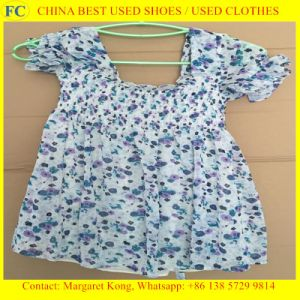 Cheap Used Clothing for Sale/Ladies Silk Blouses