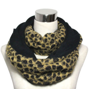 Lady Fashion Polyester Leopard Infinity Scarf (YKY4367) pictures & photos