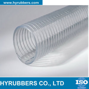 Hose Manufacture PVC Steel Wire Reinforced Flexible Pipe Hyrubbers Price pictures & photos
