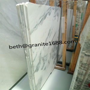 Custom Cut White Marble Tiles Cloudy Grey Slab