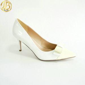 2016 Women Fashion PU MID Heel Pumps Shoes (D029-E230-2)