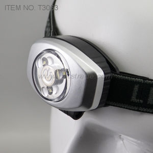 Button Cell Included 3 LED Headlight (T3063)