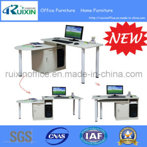 2015 New Design Corner Computer Table/Desk with Wood Cabinet (RX-D3501)