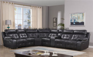 China Living Room Furniture Recliner Corner Air Leather Sofa ...