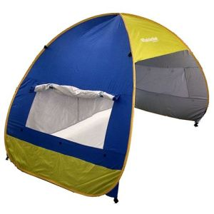 3-Person Matic Tent, Pop up Cabana Beach Tent, Light Blue