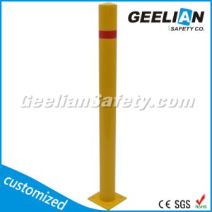 Red Yellow Removable Steel Traffic Barrier Bollards