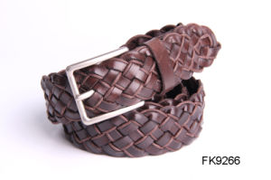 Pin Buckle Braid Leather Belt Fashion Accessory Belts for Women