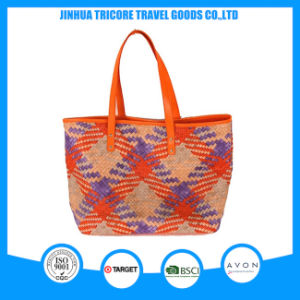 Functional Beautiful Tote Bag Beach Bag of Knit PU Material pictures & photos