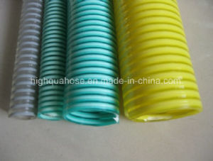 Chinese Manufacture Flexible Corrugated Spiral PVC Suction Hose pictures & photos