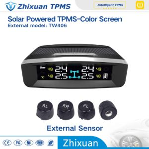 New Models Solar Wireless TPMS Tire Pressure Monitor System Temperature Monitoring USB Charge pictures & photos
