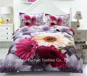 Microfiber Digital Printed 3D Bedding Set Duvet Cover Set pictures & photos