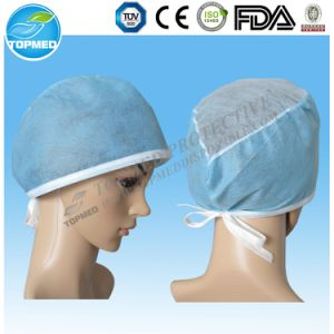 Good Quality Disposable Doctor Cap with Ties, Nurse Caps pictures & photos