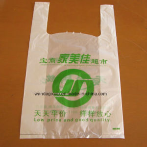Multi Color Plastic Vest Bag with Logo Printing