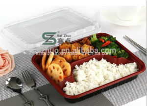 750ml 4 Compartment Thick Eco-Friendly Biodegradable Plastic Lunch Box pictures & photos