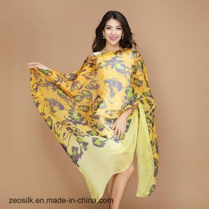 100% Silk Long Scarf for Women′s