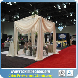 Exhibition Booth Decoration : China pipe and drape curtain stand for trade show exhibition booth