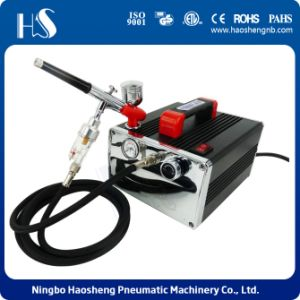 HS-216k New Precision Airbrush Compressor Kit Tool Set Craft Cake Hobby Paint Tattoo pictures & photos
