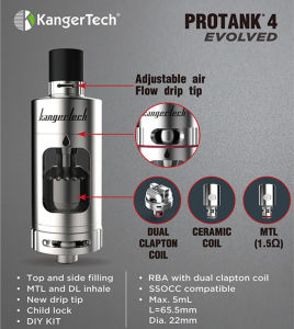 DIY Kit Kangertech Protank 4 Clearomizer with Child Lock pictures & photos