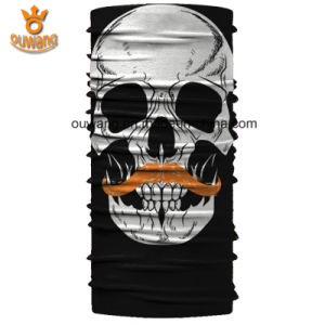 Customized Logo Skull Printed Seamless Tube Bandana pictures & photos