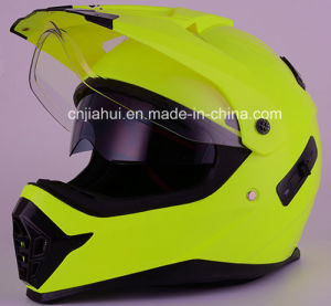 Neon Yellow DOT Approved off Road Motorcycle Helmet