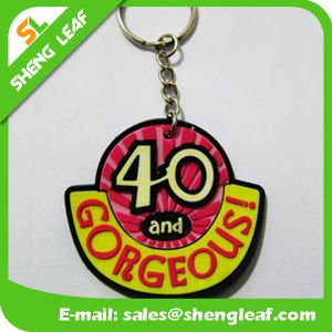 Custom Cheap Promotional Soft Rubber Keychain for Gifts (SLF-KC040)