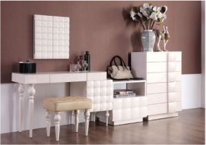 MDF Dresser with Mirror &Stool for Bedroom Use (GJ103)
