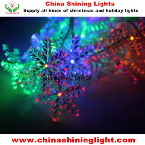 Colorful Snowflake Christmas Holiday Party Tree Decoration LED String Light