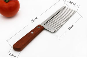 Stainless Kitchen Accessories Tools Chip Dough Vegetable Carrot Blade Potato Crinkle Wavy Cutter Slicer pictures & photos