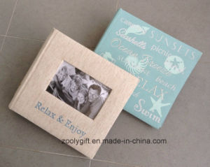 200 PCS 10X 15 Embroidered Design Fabric Photo Album with Photo Frame Window pictures & photos